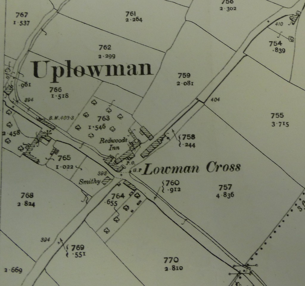 1887 map of Lowmans Cross
