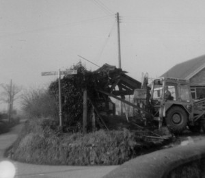 Demolishing the blacksmiths late 1960s